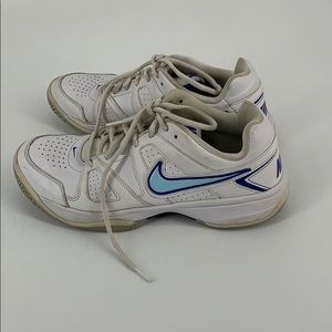Nike City Court White and Blue Tennis Shoes 10